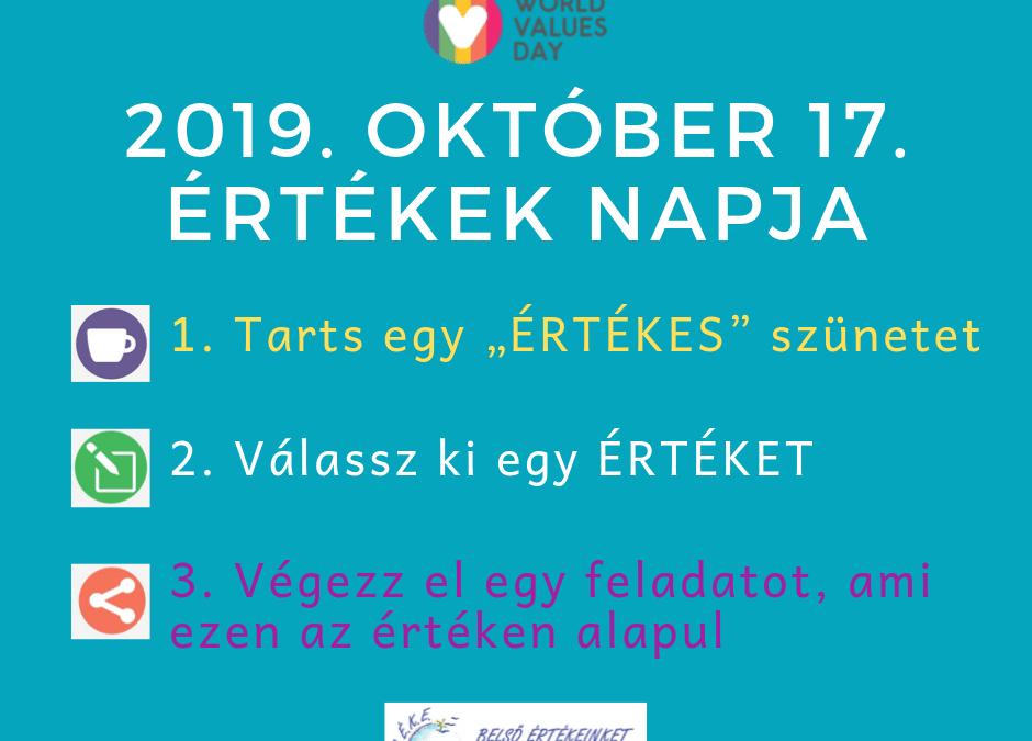 World Values Day 2019 – Az értékek világnapja